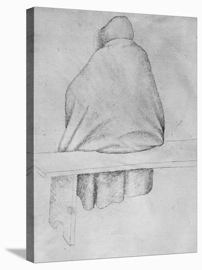 Monk Seated on a Bench, Seen from Behind-Antonio Pisani Pisanello-Stretched Canvas Print
