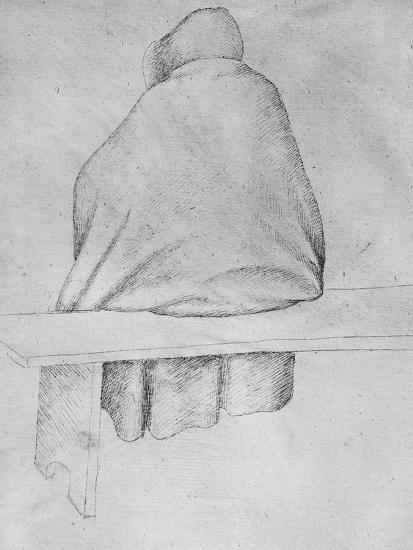 Monk Seated on a Bench, Seen from Behind-Antonio Pisani Pisanello-Giclee Print