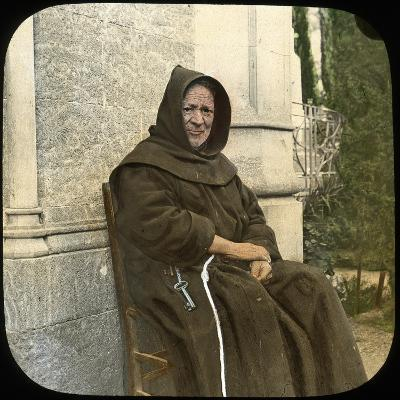 Monk, Sicily, Italy, Late 19th or Early 20th Century-L Toms-Giclee Print
