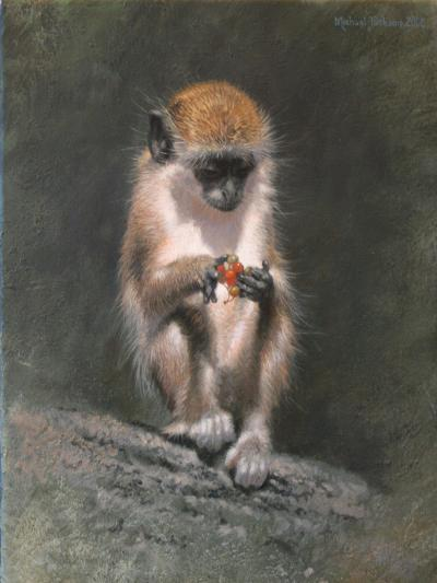 Monkey and Berries-Michael Jackson-Giclee Print