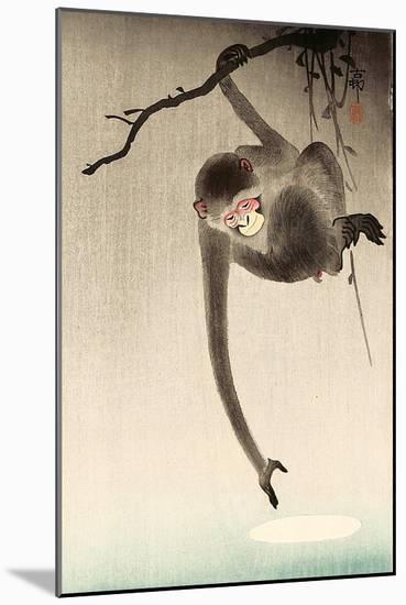 Monkey and Moon-Koson Ohara-Mounted Giclee Print