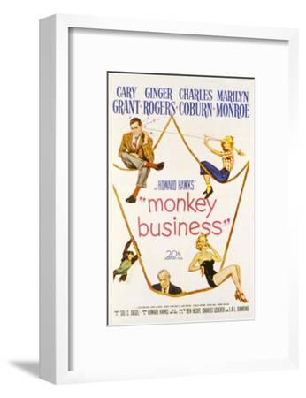 Monkey Business, Cary Grant, Ginger Rogers, Charles Coburn, Marilyn Monroe, 1952