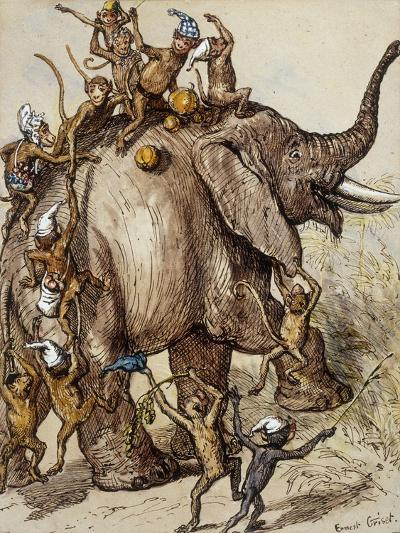 Monkey Capers-Ernest Henry Griset-Premium Giclee Print
