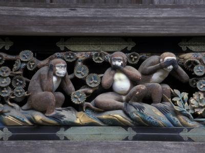 Monkey Carving, Nikko Toshogu Shrine, Japan-Rob Tilley-Photographic Print