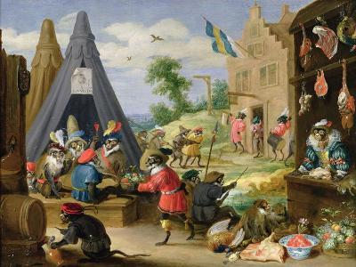 Monkey Encampment-David Teniers the Younger-Giclee Print
