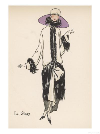 Monkey Fur Coat 1922--Giclee Print
