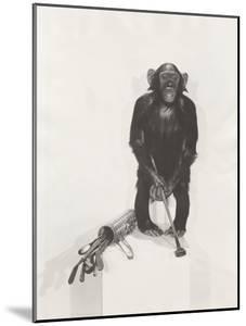 Monkey Holding a Golf Club