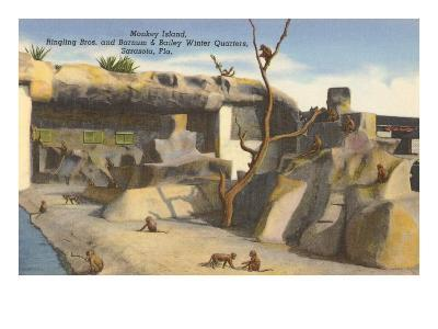 Monkey Island, Circus Quarters, Sarasota, Florida--Art Print