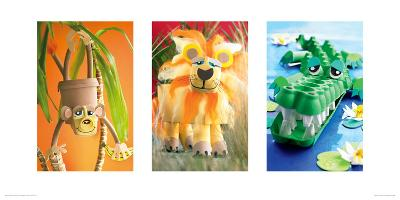 Monkey, Lion, Crocodile-Howard and Lauren Shooter and Floodgate-Giclee Print