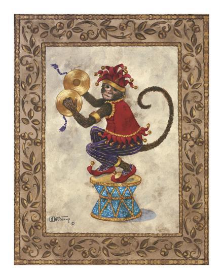 Monkey with Cymbals-Janet Kruskamp-Art Print