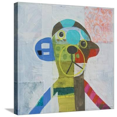 Monkey-Julie Beyer-Stretched Canvas Print
