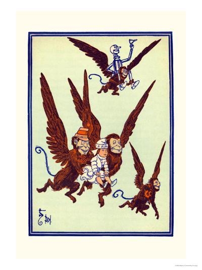 Monkeys Flew Away with Dorothy-William W^ Denslow-Art Print