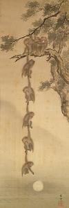 Monkeys Reaching for the Moon, Edo Period (1603-1867)