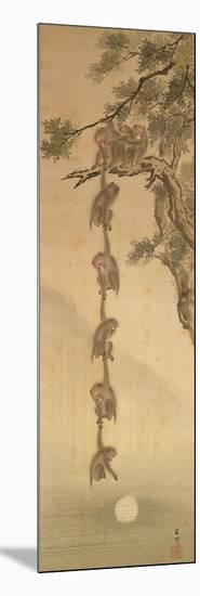 Monkeys Reaching for the Moon, Edo Period (1603-1867)-null-Mounted Giclee Print