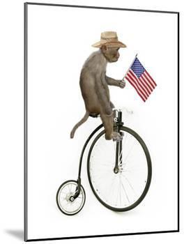 Monkeys Riding Bikes #3-J Hovenstine Studios-Mounted Giclee Print