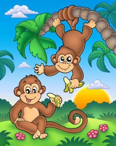 Monkeys-Klara Viskova-Art Print
