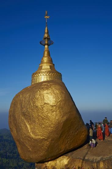 Monks and Pilgrims, Kyaiktiyo Golden Rock, Mon State, Myanmar (Burma), Asia-Tuul-Photographic Print
