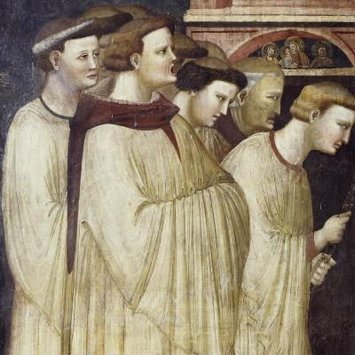 Monks Entering Monastery, Detail from Miraculous Resurrection of Filippa Barraca, 1320-1325--Giclee Print