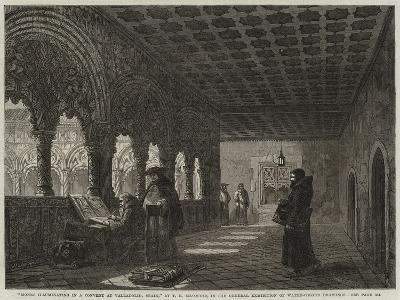 Monks Illuminating in a Convent at Valladolid, Spain--Giclee Print