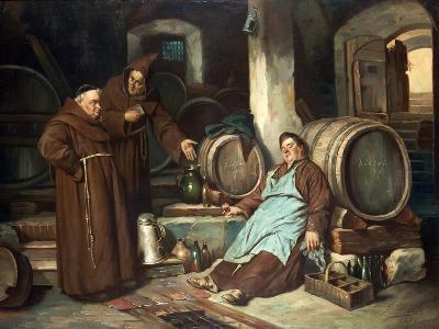 Monks in a Cellar, 1873-J. Haier-Giclee Print