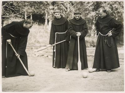 Monks Playing Game--Photographic Print
