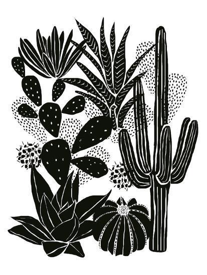 Monochrome Cacti-Myriam Tebbakha-Art Print