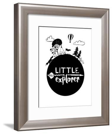 Monochrome Little Explorer-Elena David-Framed Art Print