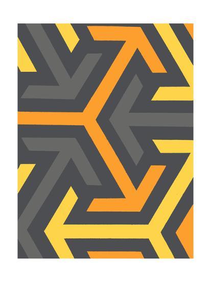Monochrome Patterns 8 in Yellow-Natasha Marie-Premium Giclee Print