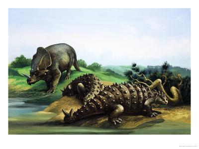 Monoclonius and Scolosaurus--Giclee Print