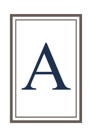 Monogram - Estate - Gray and Blue - A-Lantern Press-Art Print