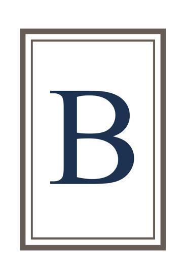 Monogram - Estate - Gray and Blue - B-Lantern Press-Art Print