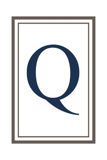 Monogram - Estate - Gray and Blue - Q-Lantern Press-Art Print