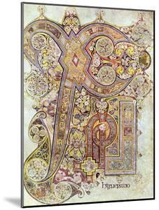 Monogram Page from the Book of Kells Christi Auteum Generatio, C800
