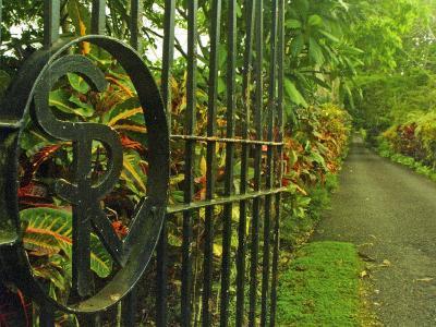 Monogrammed Entrance Gates of Villa Vailima, Apia, Samoa--Photographic Print