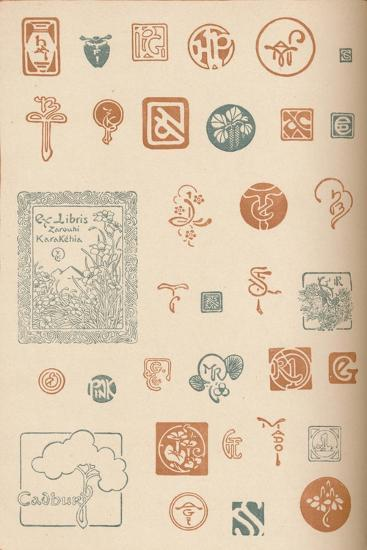 'Monograms and Marks', c1890, (1905)-Unknown-Giclee Print