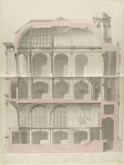 Monographie du palais de Fontainebleau : Chapelle Saint-Saturnin-Rodolphe Pfnor-Giclee Print