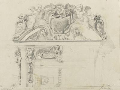 Monographie du palais de Fontainebleau : Grand vestibule-Rodolphe Pfnor-Giclee Print
