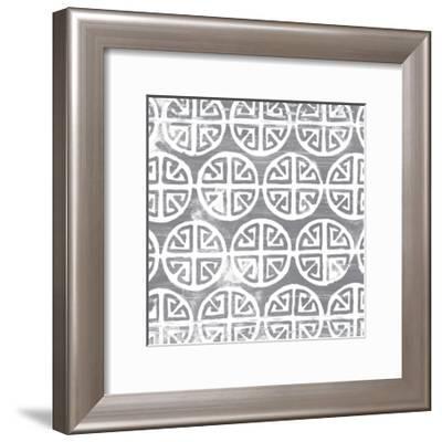 Monoprint Tile II-June Vess-Framed Art Print