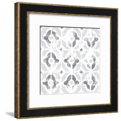 Monoprint Tile III-June Vess-Framed Art Print