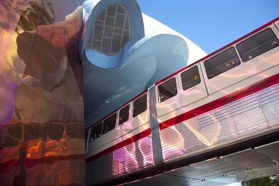 Monorail and Experience Music Project, Science Fiction Museum, Seattle, Washington, USA-John & Lisa Merrill-Photographic Print