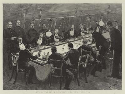 Monotony at Sea, Ring Spoof on Board a Man-O'-War-Joseph Nash-Giclee Print