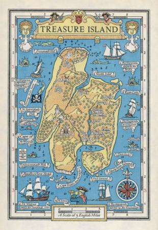 Map of Treasure Island by Monro S. Orr