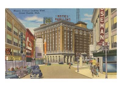 Monroe Avenue, Grand Rapids, Michigan--Art Print