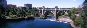 Monroe Street Bridge across Spokane River, Spokane, Washington State, USA
