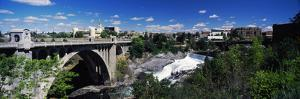 Monroe Street Bridge with City in the Background, Spokane, Washington State, USA
