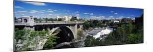 Monroe Street Bridge with City in the Background, Spokane, Washington State, USA