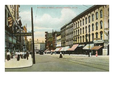 Monroe Street, Grand Rapids, Michigan--Art Print