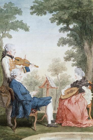 Monsieur and Mademoiselle De Croismare-Louis de Carmontelle-Giclee Print