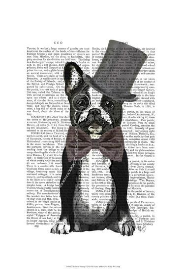 Monsieur Bulldog-Fab Funky-Art Print