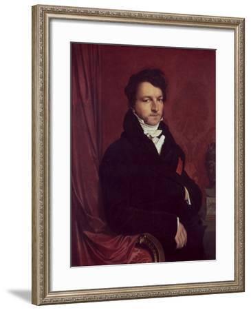 Monsieur de Norvins-Jean-Auguste-Dominique Ingres-Framed Giclee Print